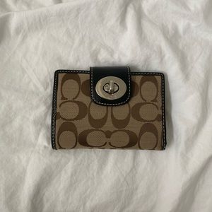 Coach Wallet - Canvas and Leather Trimming